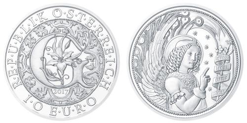 """10-Euro Silbermünzen der Serie """"Engel – Himmlische Boten"""" - Gabriel"""
