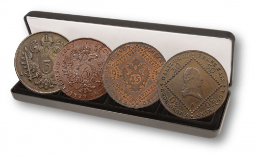 4er Set Bronzemünzen Kreuzer Franz II. und I.
