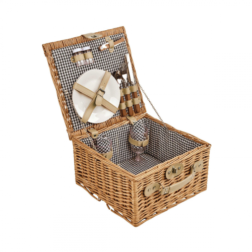 Traditioneller Picknick-Weidenkorb.