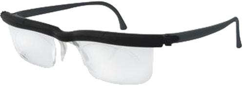 Adlens Korrekturbrille, schwarz.