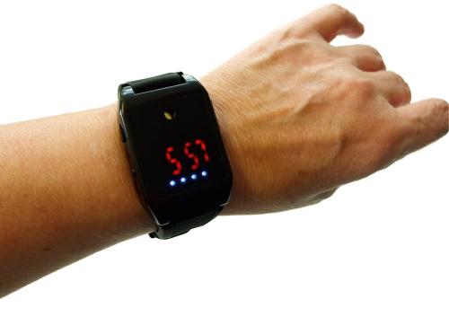 Alarm-Sicherheitsarmband mit Uhr.