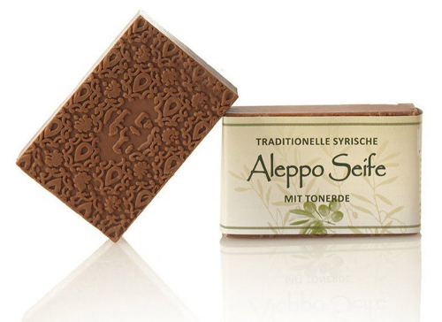 Aleppo-Olivenölseife mit Tonerde.