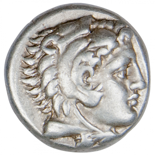 Antike Silber-Drachme Alexander der Große.