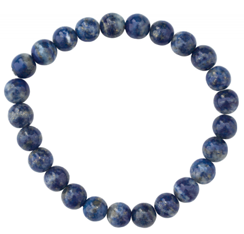 Armband mit Lapislazuli-Perlen.
