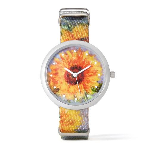 Armbanduhr »Sonnenblumen« nach Claude Monet.
