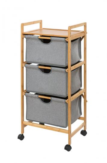 Bambus-Wäschewagen.