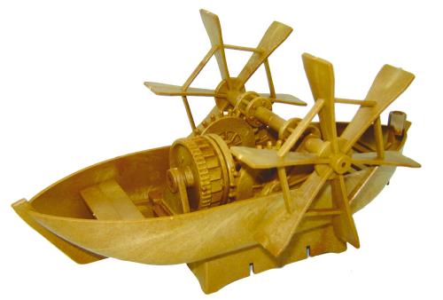 Bausatz Leonardo da Vinci Paddelboot.