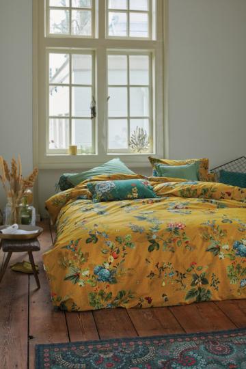 Bettwäsche »Blütenmotiv«, gelb.