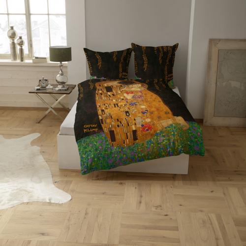 Bettwäsche »Klimts Kuss«.