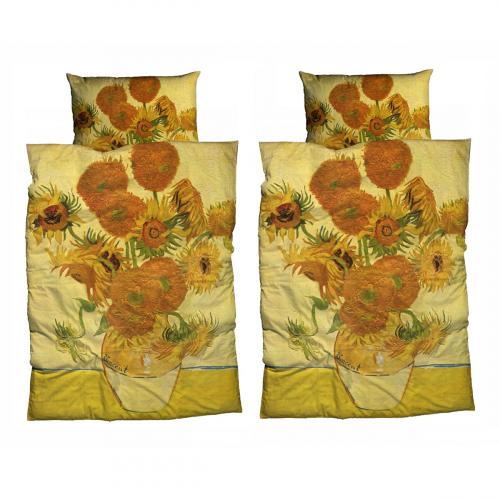 Bettwäsche »van Goghs Sonnenblumen«, 2er-Set.
