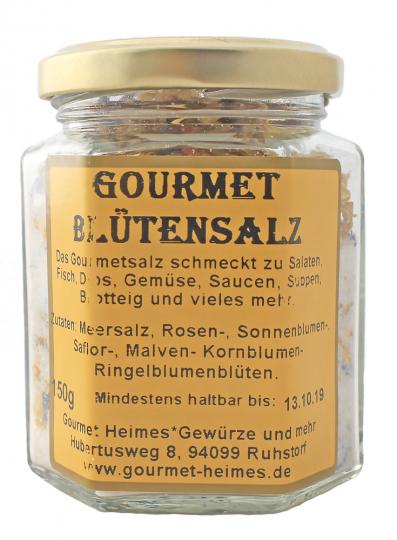 BIO Gewürzmischung Gourmet Blütensalz 150 g im 6-Eckglas