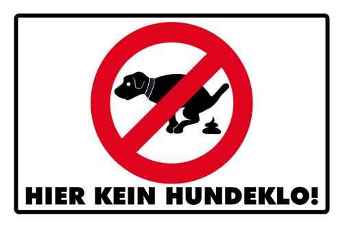 «Hier kein Hundeklo!«