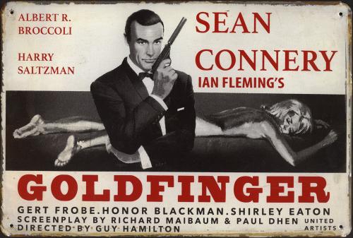 Blechschild »James Bond«.