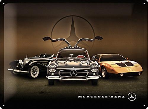 Blechschild »Mercedes-Benz«.
