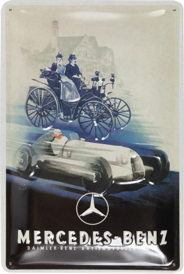 Blechschild »Mercedes-Benz« Silver Arrow Historic.