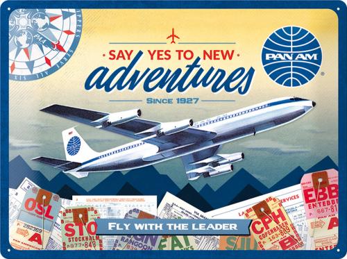 Blechschild »Pan Am«.