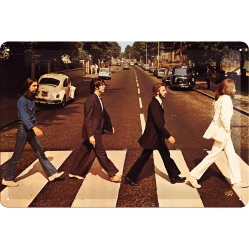 Blechschild »The Beatles - Abbey Road«.