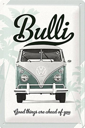 Blechschild »VW-Bulli«.