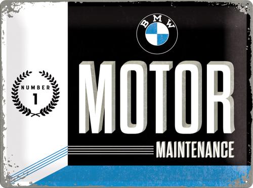 Blechschild »BMW Motor«.