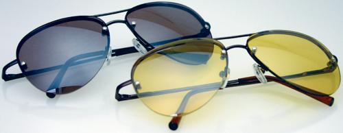 Brillen für Tag und Nacht, 2er-Set.