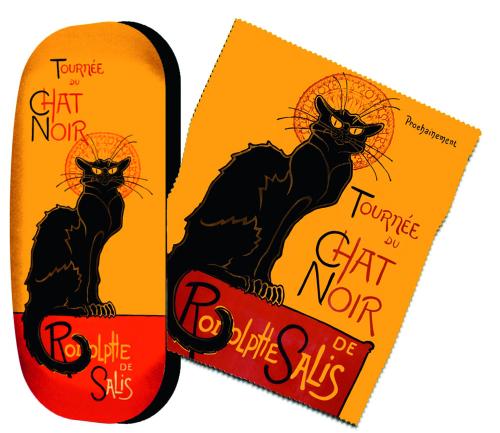 Brillenetui Théophile Steinlen »Le Chat Noir« (Der schwarze Kater).