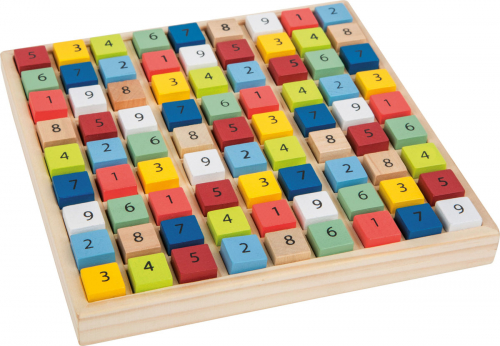 Buntes Sudoku aus Holz.