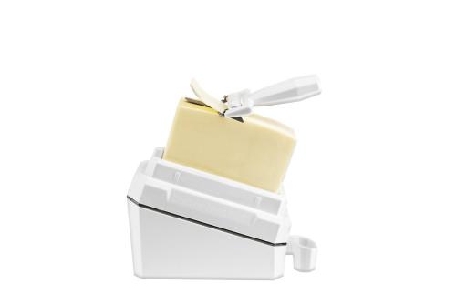 Butterdose mit Hobel.