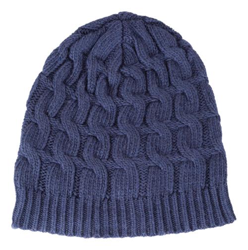 Mütze mit Kaschmir, blau.