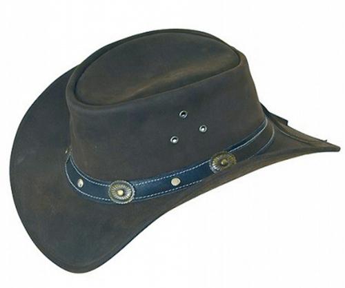 Cowboyhut aus Echtleder, Gr. M.