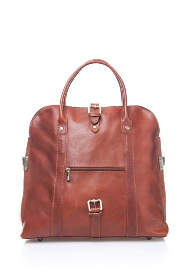 Damenhandtasche mit Tragegriff, braun.