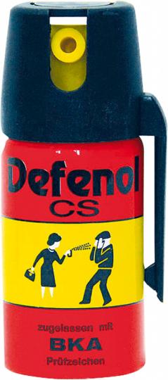 Defenol CS-Tränengas.