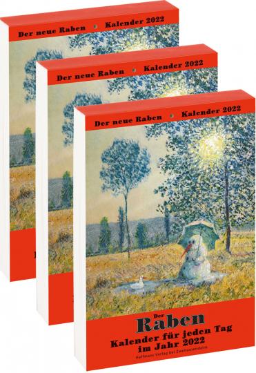 Der Rabenkalender für das Jahr 2022. 3er-Paket.