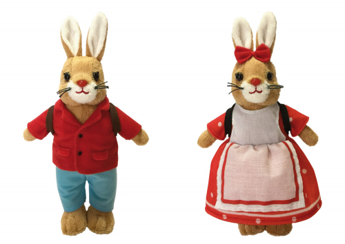 Die Häschenschule. Hasenhans & Hasengretchen Plüschfiguren.