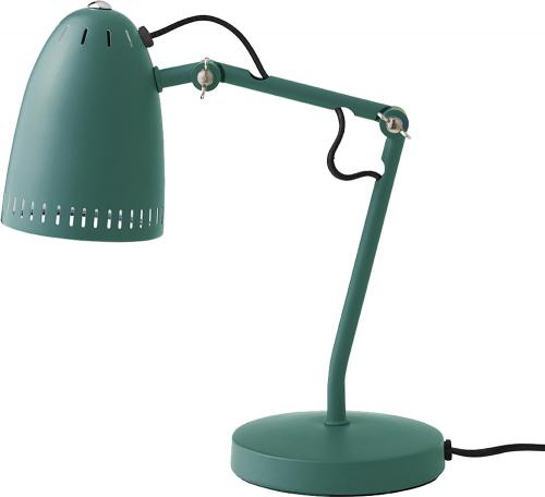 Entengrüne Schreibtischlampe.