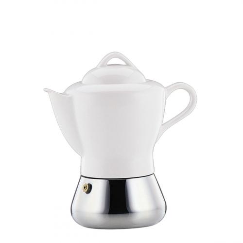 Espressokocher mit Porzellankanne.