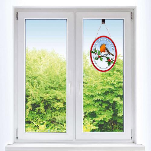 Fensterbild »Rotkehlchen«.