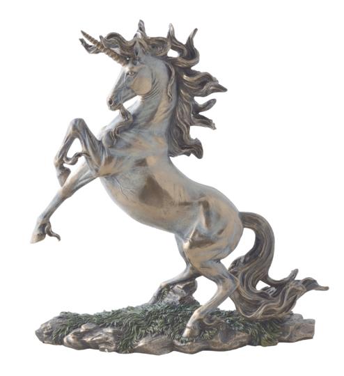 Skulptur Aufbäumendes Einhorn.