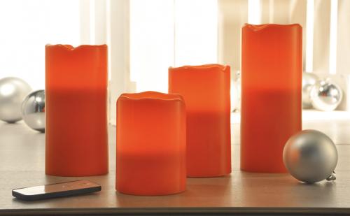 Flammenloses LED-Kerzen-Set.