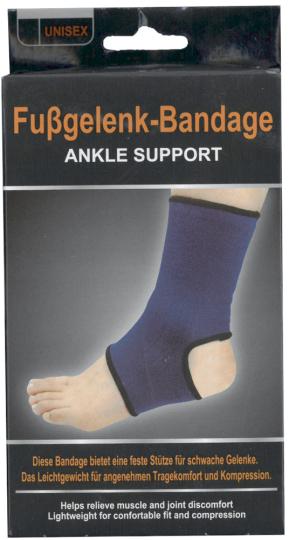 Fussgelenk-Bandage.