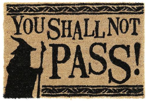 Fußmatte »Herr der Ringe«. You Shall Not Pass.