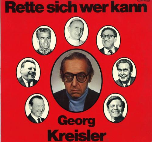 Georg Kreisler. Rette sich wer kann. CD.