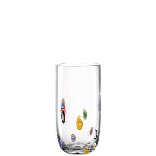 Gläser »Millefiori«, groß. 6 Stück.