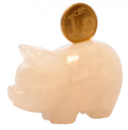 Glücksschwein mit 1 Cent.