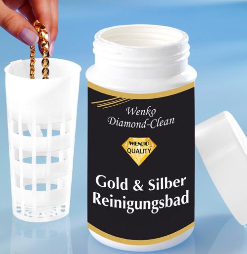 Gold-und Silber-Reinigungsbad.