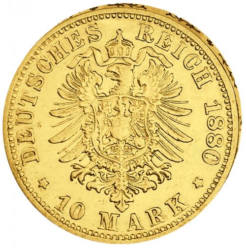 Goldmünze 10 Mark Wilhelm I.