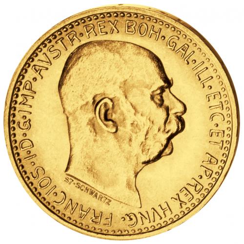 Goldmünze Österreich 10 Kronen Franz Joseph I. 1909-1912.