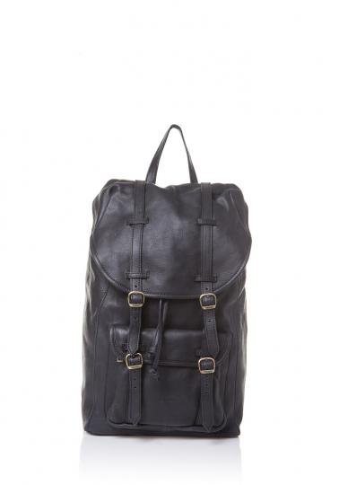 Großer Rucksack, schwarz.
