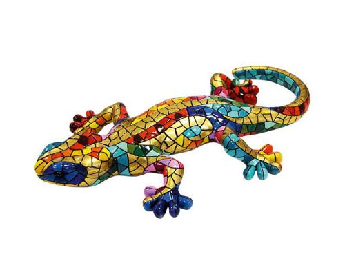 Großer Salamander aus Mosaiksteinen.