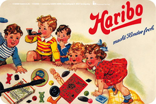 Blechschild Haribo macht Kinder froh.