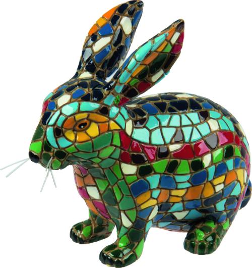 Hase aus Mosaiksteinen.